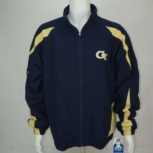 MENS RUSSELL ATHLETIC GEORGIA TECH TEAM JACKET NWT